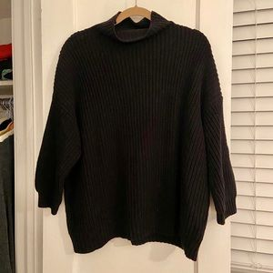 American Eagle Mock Neck Ribbed Sweater
